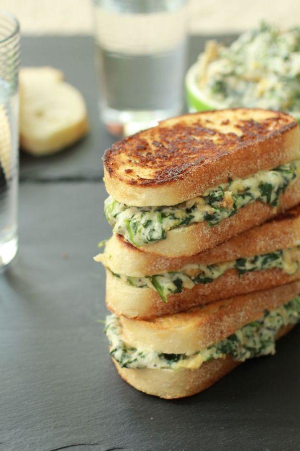 cheese spinach sandwhich
