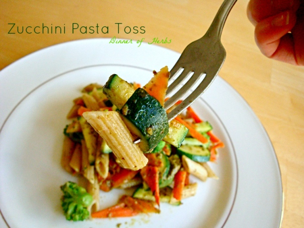 zucchini-pasta-toss-dinner-of-herbs