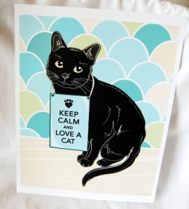 cat card keep calm