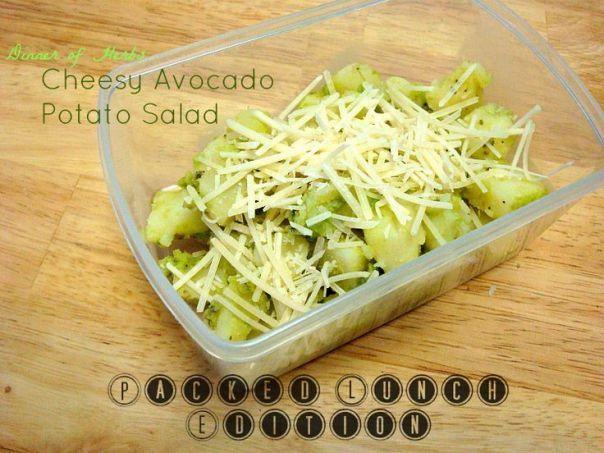 cheesy avo potato salad