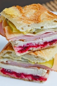 cranberry and meat sandwich