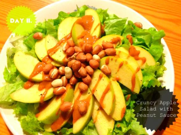 Crunchy Apple Salad with Peanut Sauce